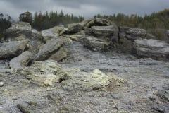 vulkanisk terrain New Zealand royaltyfria foton