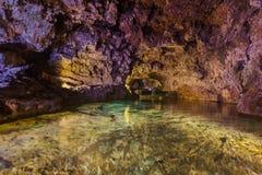 Vulkaniska grottor i Sao Vicente - madeira Portugal Fotografering för Bildbyråer
