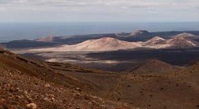 Vulkaniska krater Arkivbilder