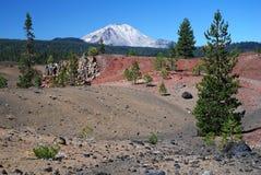 Vulkaniska Lassen, Kalifornien, USA Fotografering för Bildbyråer