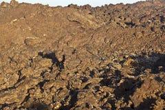 Vulkaniska stenar i nationalparken Timanfaya Royaltyfria Bilder