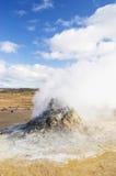Vulkaniskt ökenlandskap i Island arkivbilder