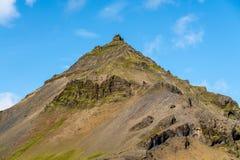 Vulkaniskt bergmaximum i Island arkivbild