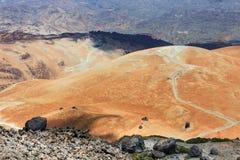 Vulkaniskt bombarderar på Montana Blanca, den Teide nationalparken, Tenerife, kanariefågelöar, Spanien Fotografering för Bildbyråer