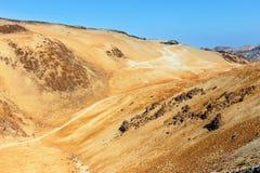 Vulkaniskt bombarderar på Montana Blanca, Tenerife, kanariefågelöar, Spanien Fotografering för Bildbyråer