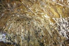 Vulkaniskt grottagalleri i den Terceira ön azerbaijan Algar gör Carva Arkivfoton