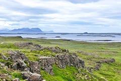 Vulkaniskt landskap av den Snaefellsnes halv?n arkivbilder
