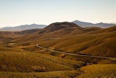 Vulkaniskt landskap av Fuerteventura, kanariefågelöar, Spanien Arkivfoton