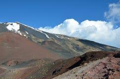 Vulkaniskt landskap av Mountet Etna Arkivbilder