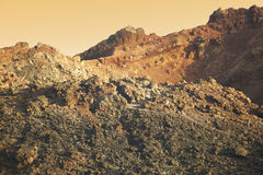 Vulkaniskt landskap i La Palma kanariefågelöar tenerife spain Arkivbilder
