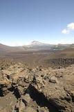 Vulkaniskt landskap i sydliga Chile Arkivbild