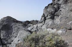 Vulkaniskt landskap i Tenerife Arkivfoton