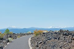 Vulkaniskt landskap Oregon Royaltyfri Bild