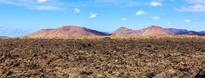 Vulkaniskt område i Lanzarote Arkivbilder
