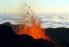 vulkaniskt utbrott 3 Arkivbilder