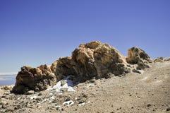 Vulkaniskt vagga på berget Royaltyfria Foton