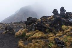 Vulkaniskt vaggar bildande på den Tongariro nationalparken arkivfoton