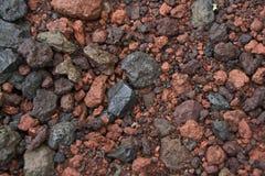 Vulkaniskt vaggar, Island Royaltyfria Foton