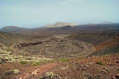 Vulkankrater Lizenzfreies Stockfoto
