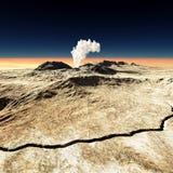 Vulkanutbrott arkivbild