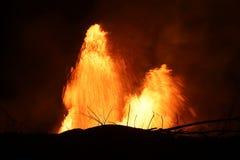 Vulkanutbrott av den Kilauea vulkan i Hawaii royaltyfria foton