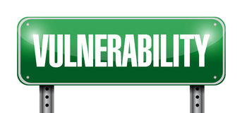 Vulnerability street sign illustration design Stock Photo