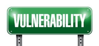vulnerability street sign illustration design Stock Photo