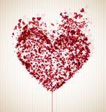 Vulnerable heart stock illustration