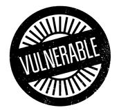 Vulnerable rubber stamp. Grunge design with dust scratches. Effects can be easily removed for a clean, crisp look. Color is easily changed royalty free illustration