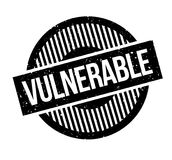 Vulnerable rubber stamp. Grunge design with dust scratches. Effects can be easily removed for a clean, crisp look. Color is easily changed vector illustration