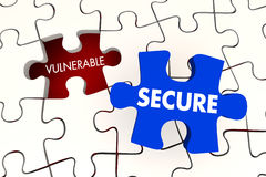 Vulnerable Secure Security Puzzle Piece Royalty Free Stock Photo