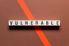 Free Vulnerable Word Concept On Cubes Royalty Free Stock Image - 173108606