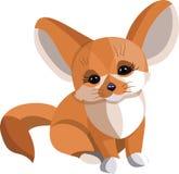 Vulpes zerda fennecus fox good vector illustration