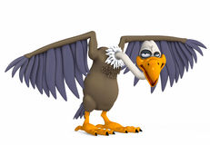 Vulture. 3d render of  vulture  on a white background Stock Image