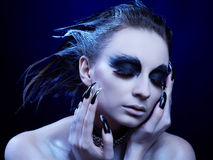 Vulture girl Royalty Free Stock Photos