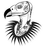 Vulture head with tattoo Stock Image