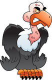 Vulture Perched. A cartoon vulture perched with an angry expression Stock Photo