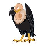 Vulture. Vector image of a cartoon smiling vulture Royalty Free Stock Image