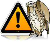 Vulture warning Royalty Free Stock Photos