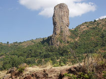 Vultures rock, Ethiopia, Africa Stock Image