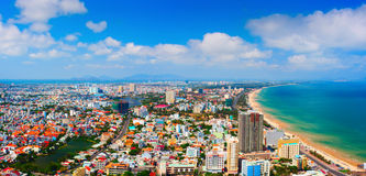Vung Tau city aerial view. Vietnam. Royalty Free Stock Images