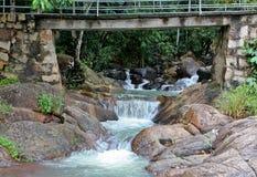 VUNG TAU, VIETNAME - 10 de junho de 2013 - Suoi Tien Waterfall em Vung Tau, Vietname fotografia de stock