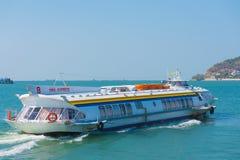 从Vungtau的水翼艇向西贡 免版税库存照片