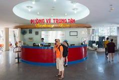 Vungtau轮渡码头售票处 免版税图库摄影