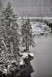 Vuoksa flod-säng finland arkivbilder