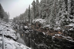 Vuoksarivierbed finland stock fotografie