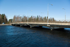 Vuoksi river bridge. The bridge cross the Vuoksi river near the Imatra dam. Imatra. Finland Royalty Free Stock Photos