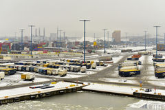 Vuosaari,芬兰货物港  库存照片