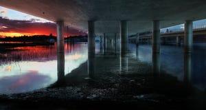 Vuosaari most, Helsinki Zdjęcia Royalty Free