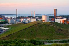 Vuosaari power plants in Finland Stock Photos